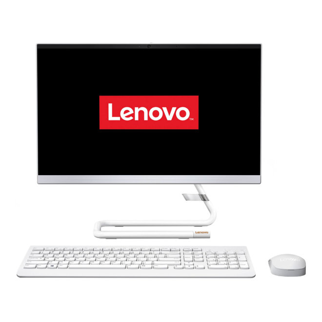 "Lenovo IdeaCentre A340, All-In-One stolno računalo, Intel Core i5, 24"" Full HD, 8GB RAM, 256GB SSD + 1TB HDD, DVD/RW, Integrated CPU, Free DOS, Wireless tipkovnica + miš, White [F0ER0048RI]"