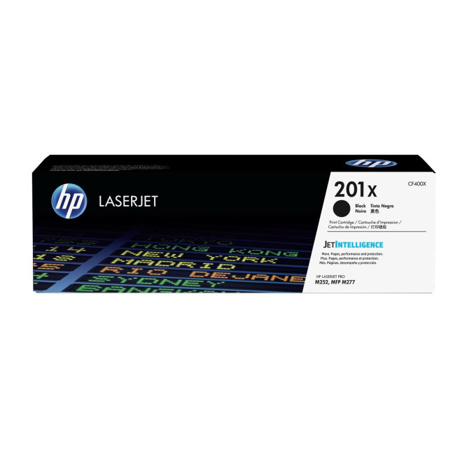 HP 201X High Yield Black LaserJet Toner Cartridge, cca 2.800 ispisa, Original [CF400X]
