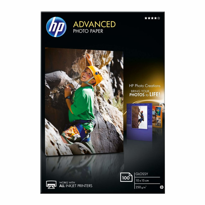 HP Advanced Glossy Photo Papir, 100 listova/10 x 15 cm borderless, Original [Q8692A]