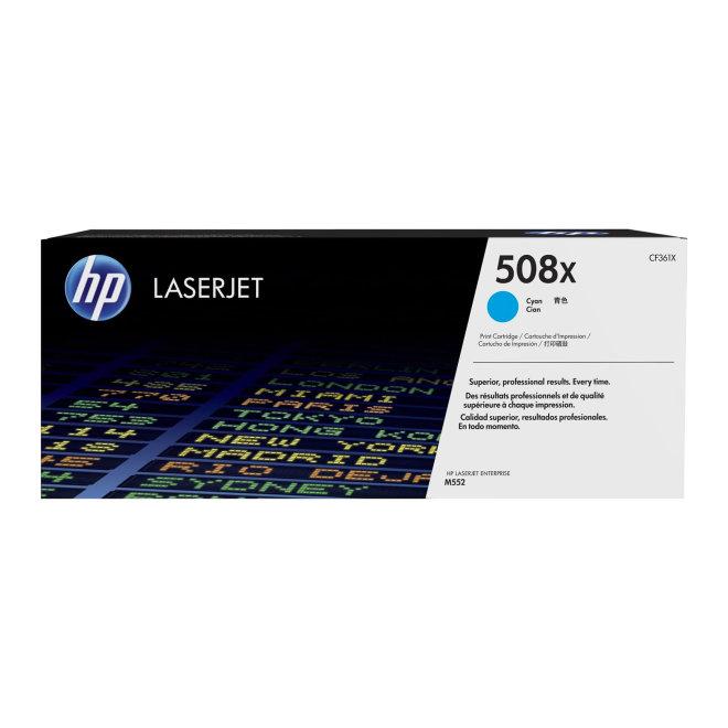 HP 508X High Yield Cyan LaserJet Toner Cartridge, kazeta, cca 9.500 ispisa, Original [CF361X]