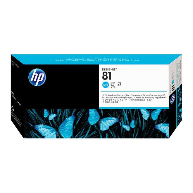 HP 81 Cyan Dye Printhead and Printhead Cleaner, glava + čistač glave, Original [C4951A]