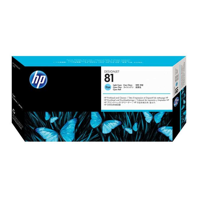 HP 81 Light Cyan DesignJet Dye Printhead and Printhead Cleaner, glava + čistač glave, Original [C4954A]