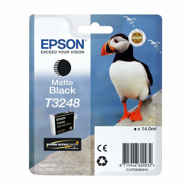 Epson tinta T3248, Matte Black, za SureColor SC-P400, cca 650 ispisa, Original [C13T32484010]