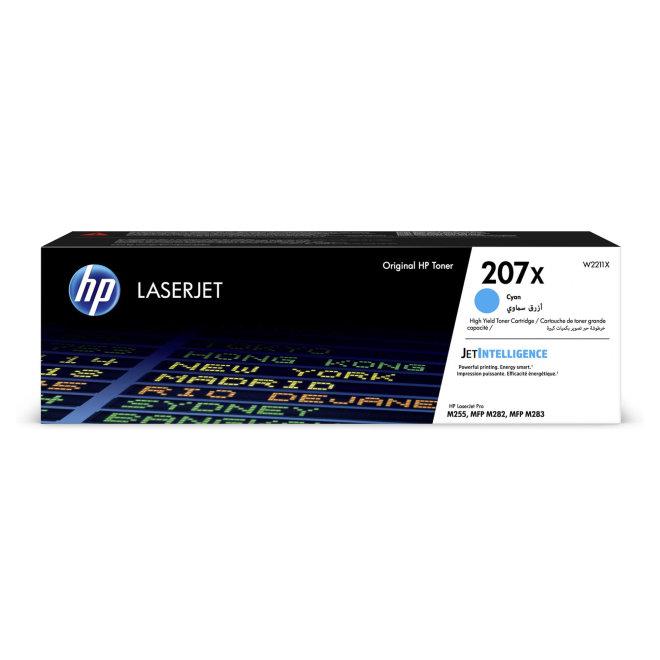 HP 207X High Yield Cyan LaserJet Toner Cartridge, cca 2.450 ispisa, Original [W2211X]