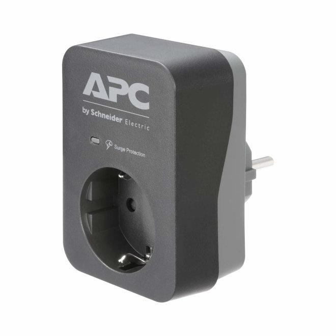 APC Essential SurgeArrest, prenaponska zaštita, 1 x Schuko utičnica, 230V, 16A, Black [PME1WB-GR]