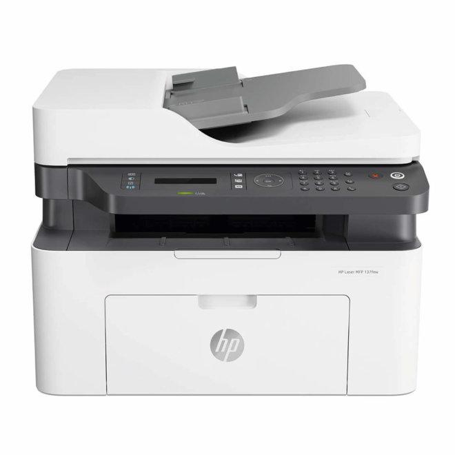 HP Laser MFP 137fnw, višefunkcijski pisač, laserski c/b ispis, A4, WiFi, Ethernet, USB, ADF, 60 – 163 g/m² [4ZB84A#B19]