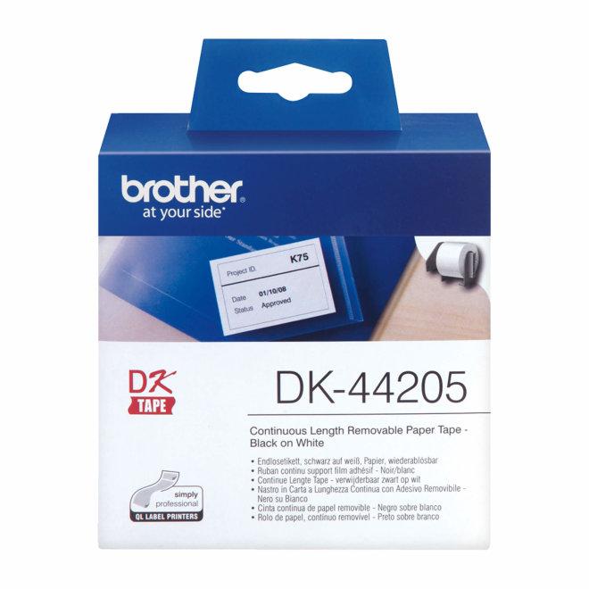 Brother rola DK-44205, bijela rola s crni ispisom, širina 62 mm, dužina 30,48 m, Original [DK44205]