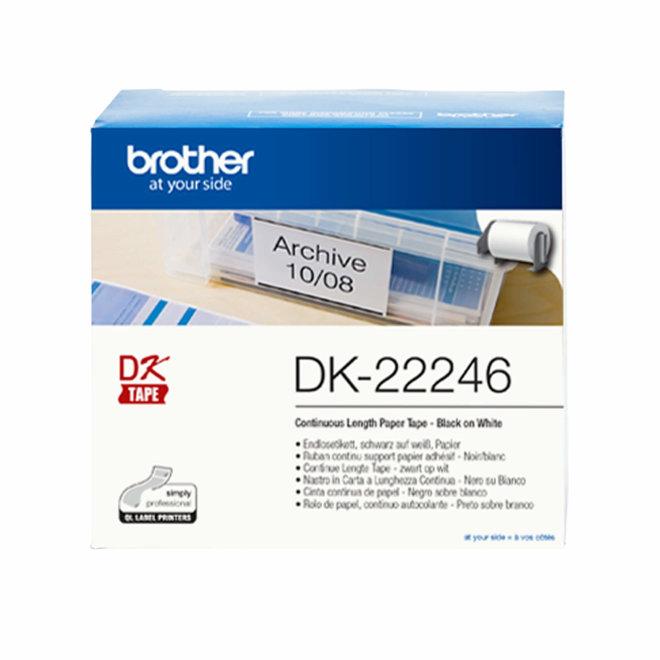Brother rola DK-22246, bijela rola s crnim ispisom, širina 103 mm, dužina 30,48 m, Original [DK22246]