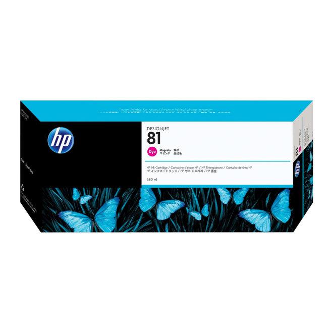 HP 81 Magenta Dye Ink Cartridge, tinta, 680 ml, Original [C4932A]