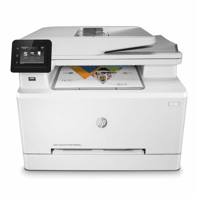 HP Color LaserJet Pro M283fdw, višefunkcijski pisač, laserski ispis u boji, A4, WiFi, Ethernet, USB, ADF, Dupleks, Touchscreen, 60 – 220 g/m² [7KW75A#B19]