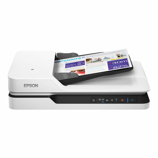 Epson WorkForce DS-1660W, Flatbed skener, A4, WiFi, USB, ADF 50 listova, 120 g/m² [B11B244401]