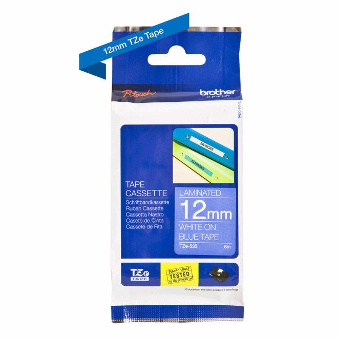 Brother kazeta TZe-535, plava traka s bijelim ispisom, širina 12 mm, Original [TZE535]
