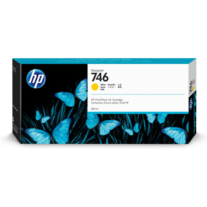 HP 746 Yellow DesignJet Ink Cartridge, tinta, 300 ml, Original [P2V79A]