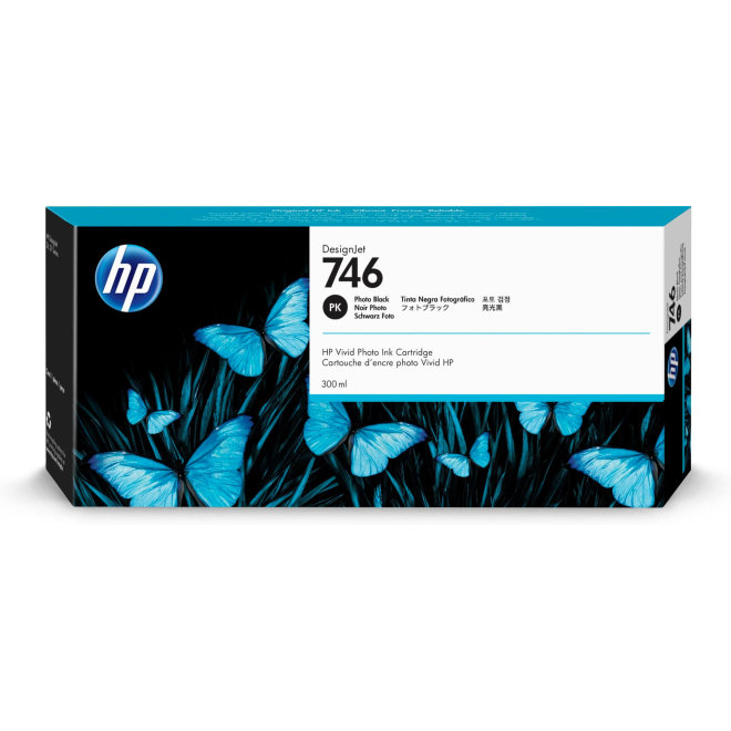 HP 746 Photo Black DesignJet Ink Cartridge, tinta, 300 ml, Original [P2V82A]