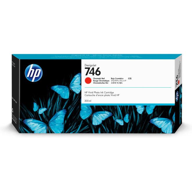 HP 746 Chromatic Red DesignJet Ink Cartridge, tinta, 300 ml, Original [P2V81A]