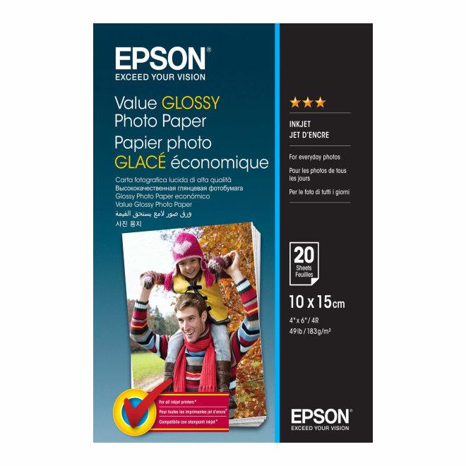 Epson papir Value Glossy Photo Paper, 10 x 15cm, 20 listova, Original [C13S400037]