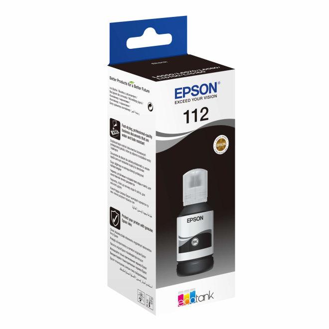 Epson 112 EcoTank Pigment Black ink bottle, tinta u boci, cca 7.500 ispisa, Original [C13T06C14A]