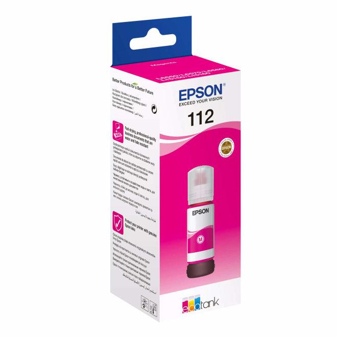 Epson 112 EcoTank Pigment Magenta ink bottle, tinta u boci, cca 6.000 ispisa, Original [C13T06C34A]