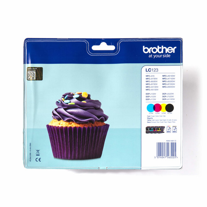 Brother tinta set LC123VALBP, Cyan/Magenta/Yellow/Black, cca 600 stranica/svaka, Original [LC123VALBP]