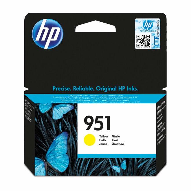 HP 951 Yellow Ink Cartridge, tinta, cca 700 ispisa, Original [CN052AE#BGX]