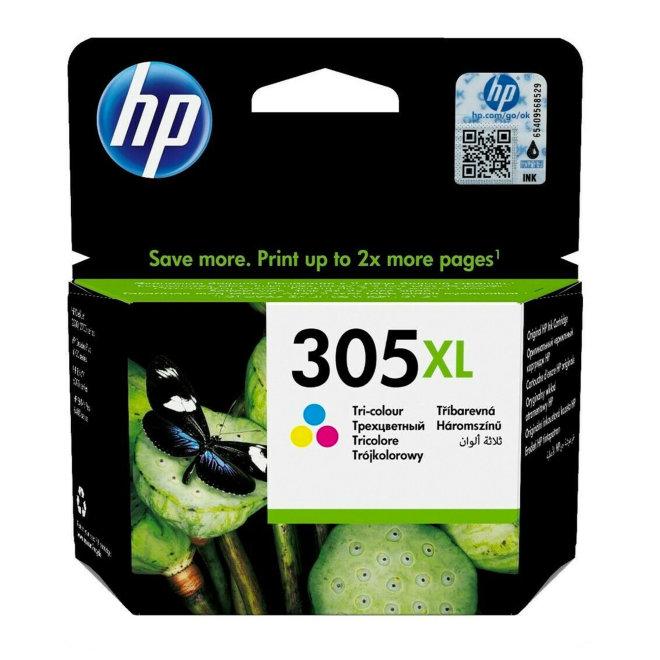 HP 305XL High Yield Tri-color Ink Cartridge, tinta, cca 200 ispisa, Original [3YM63AE]