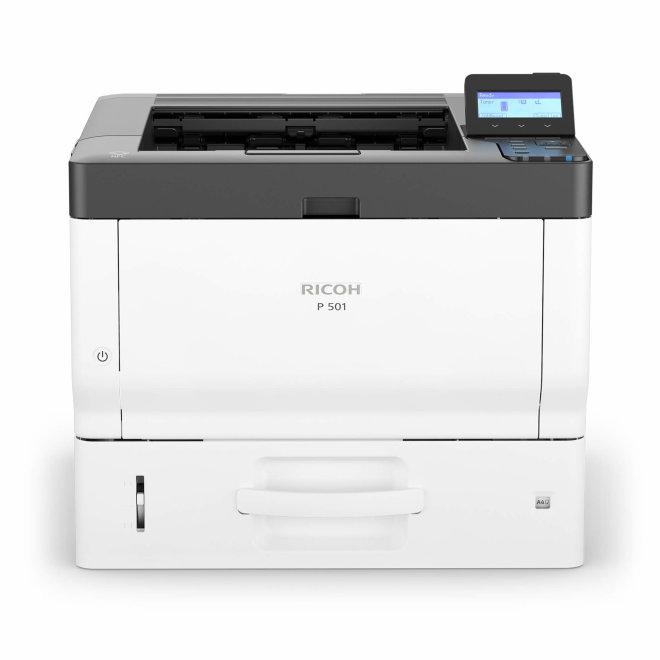 Ricoh P 501, jednofunkcijski pisač, laserski crno-bijeli ispis, A4, 2GB RAM, USB2.0, Ethernet 10/100/1000, AirPrint, Google Cloud Print, NFC, 220 g/m² [418363]
