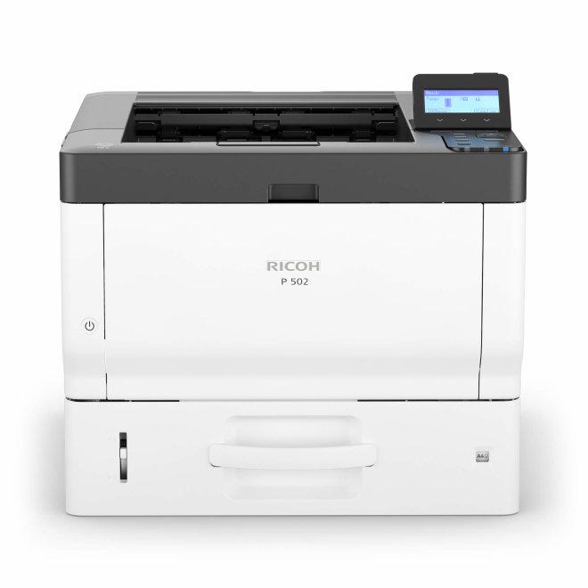 Ricoh P 502, jednofunkcijski pisač, laserski crno-bijeli ispis, A4, 2GB RAM, USB2.0, Ethernet 10/100/1000, AirPrint, Google Cloud Print, NFC, 220 g/m² [418495]