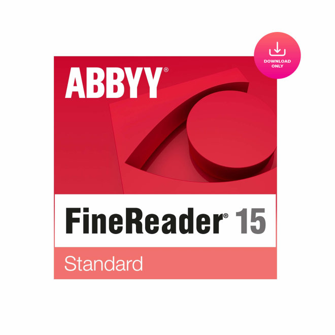 ABBYY FineReader PDF 15 Standard, PDF i OCR softver, elektronska licenca za download [FR15SESD]