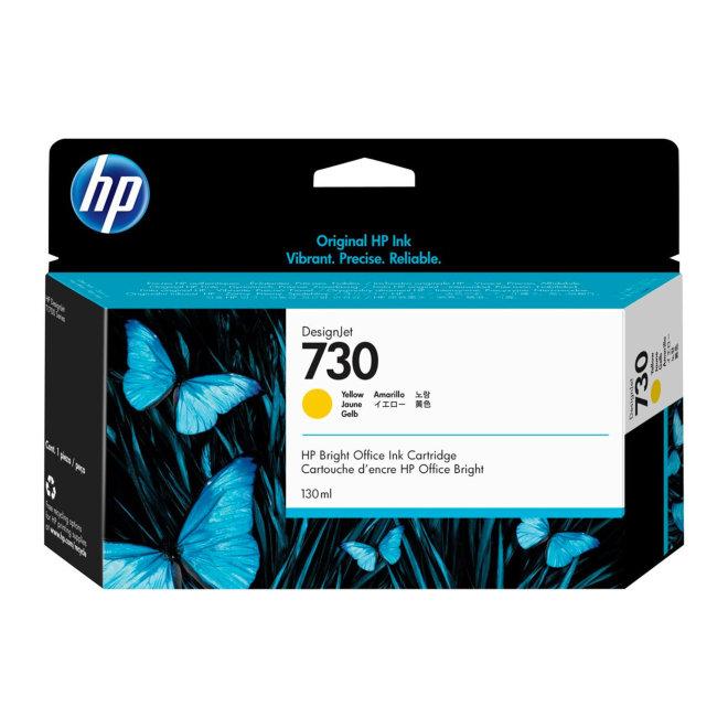 HP 730 Yellow DesignJet Ink Cartridge, tinta, 130 ml, Original [P2V64A]