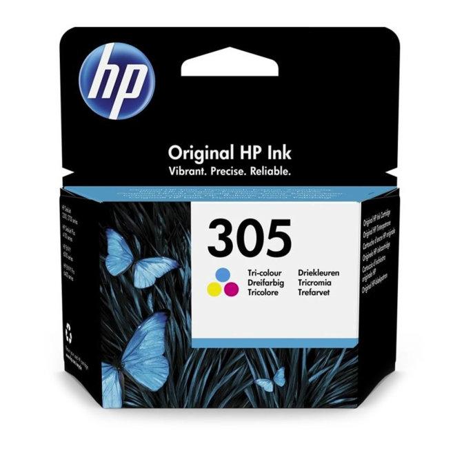 HP 305 Ink Cartridge, Tri-Colour, Single Pack, tinta, cca 100 ispisa, Original [3YM60AE]