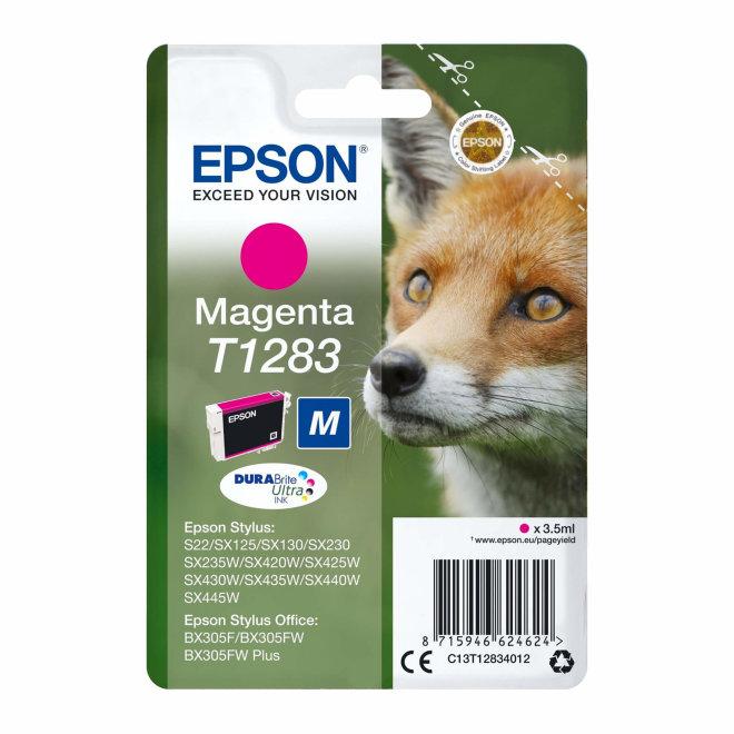 Epson tinta Magenta T1283 DURABrite Ultra Ink, Original [C13T12834022]