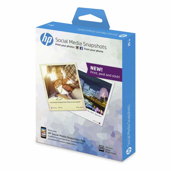 HP Papir Social Media Snapshots, 10 x 13 cm, 25 komada, 120 g/m², Original [W2G60A]