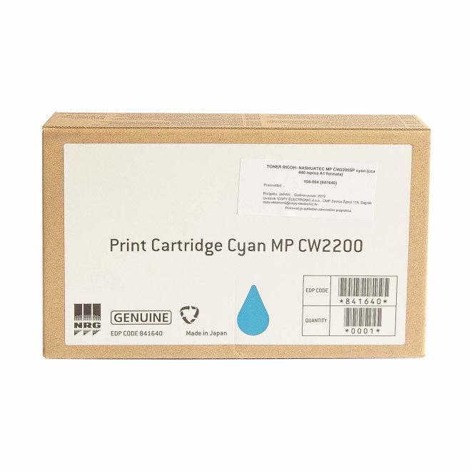 Ricoh/Nashuatec MP CW2200SP / 2201SP, Cyan, tinta, cca 440 ispisa A1 formata, Original [841640]