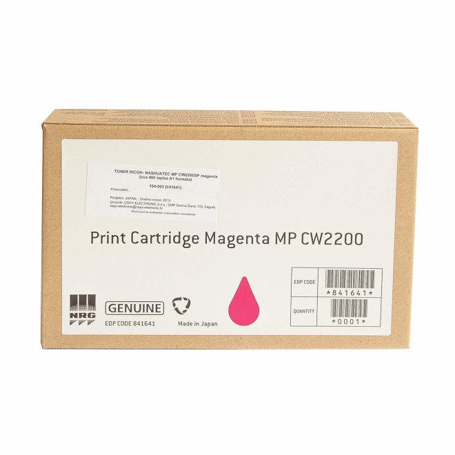 Ricoh/Nashuatec MP CW2200SP / 2201SP, Magenta, tinta, cca 460 ispisa A1 formata, Original [841641]