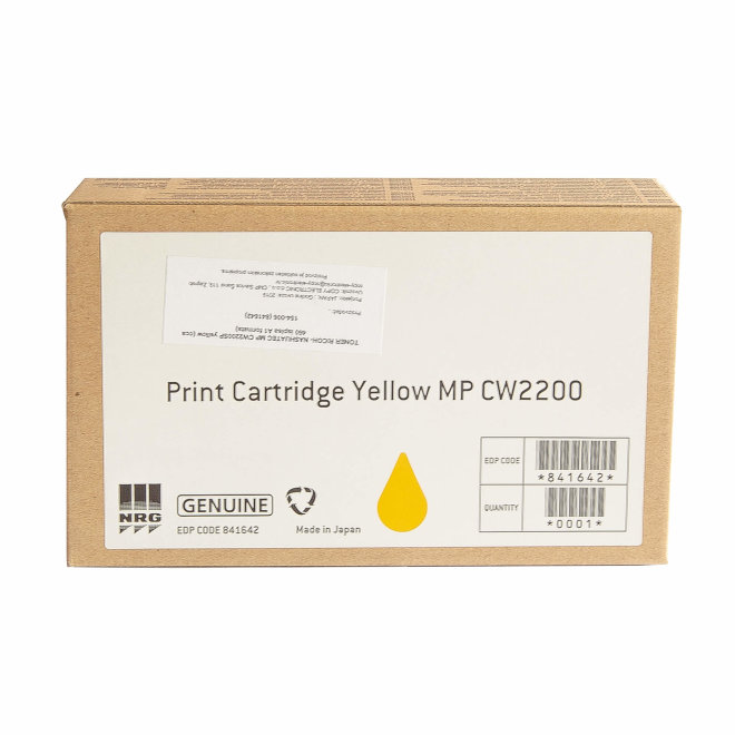 Ricoh/Nashuatec MP CW2200SP / 2201SP, Yellow, tinta, cca 460 ispisa A1 formata, Original [841642]