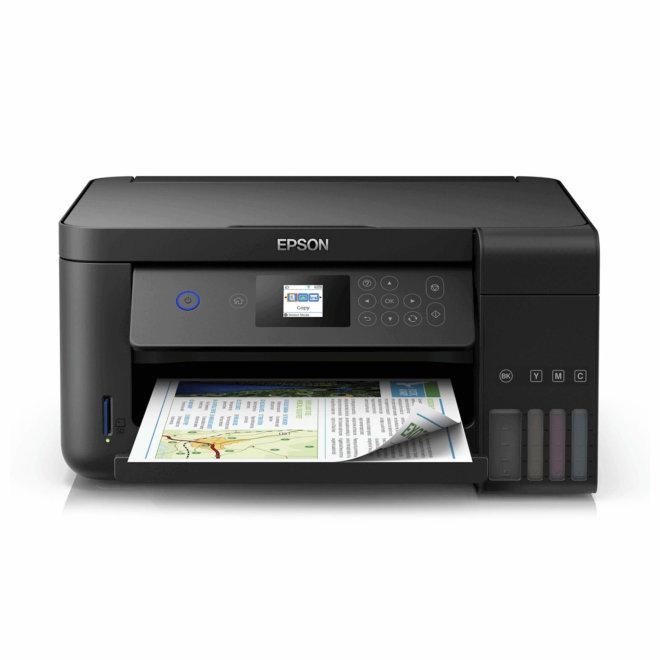 Epson EcoTank L4160, višefunkcijski pisač, tintni ispis u boji, 4 boje, A4 format, WiFi, USB, dupleks, LCD zaslon [C11CG23401]