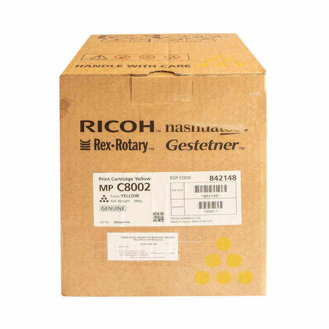 Ricoh/Nashuatec MP C6502SP / MP C8002, Yellow, toner, cca 29.000 ispisa, Original [842148]