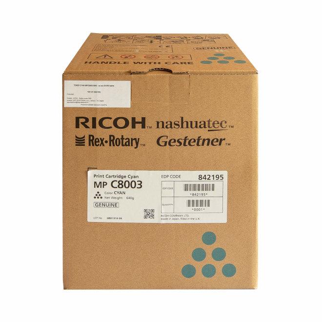 Ricoh/Nashuatec MP C6503 / MP C8003, Cyan, toner, cca 26.000 ispisa, Original [842195]