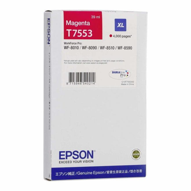 Epson Ink Cartridge XL Magenta, tinta, cca 4.000 ispisa, Original [C13T755340]