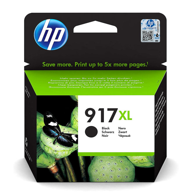 HP 917XL Extra High Yield Black Ink Cartridge, tinta, cca 1.500 ispisa, Original [3YL85AE#BGX]