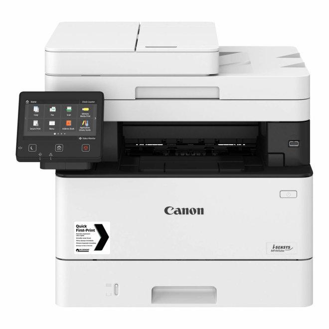 Canon i-SENSYS MF445dw, višefunkcijski pisač, laserski c/b ispis, A4, WiFi, Ethernet, USB, Secure PIN print, Touchscreen, Duplex, ADF, 60 – 163 g/m² [3514C007AA]