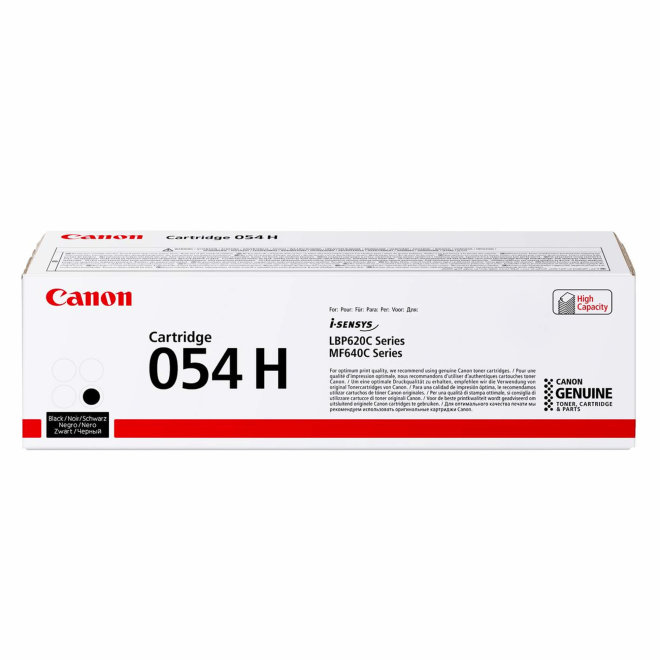 Canon 054 H High Yield Toner Cartridge, toner, kazeta, Black, cca 3.100 ispisa, Original [3028C002AA]