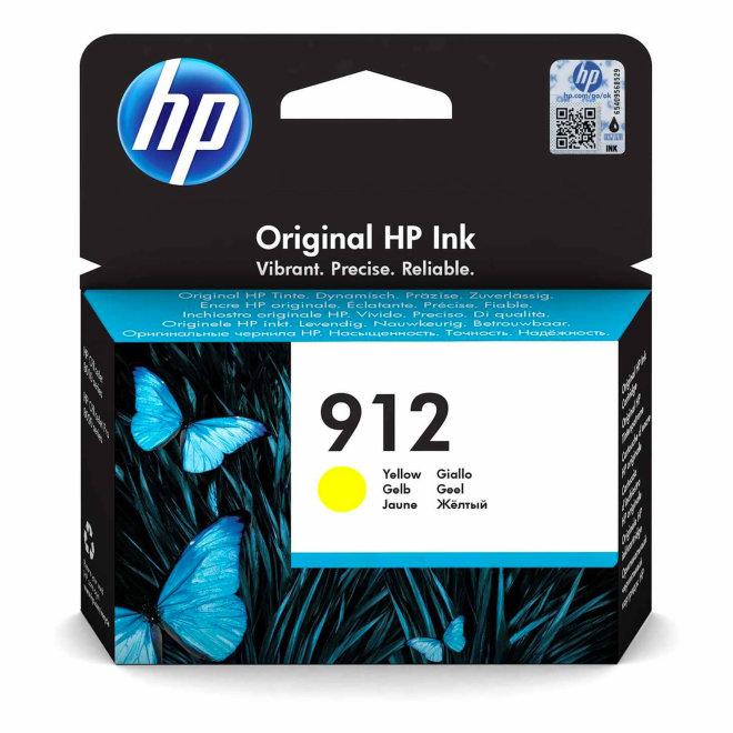 HP 912 Yellow Original Ink Cartridge, tinta, cca 315 ispisa, Original [3YL79AE#BGX]