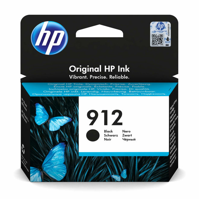 HP 912 Black Ink Cartridge, tinta, cca 300 ispisa, Original [3YL80AE#BGX]