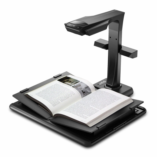 CZUR M3000, Pro Book Scanner, 20 MP HD kamera, OCR by ABBYY, V-shaped Book Cradle, LCD Screen, Black, 4,5 kg [CZURM3000PRO]