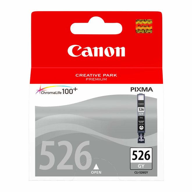 Canon CLI-526GY Grey Ink Cartridge, tinta, ChromaLife100+ system, Original [4544B001AA]