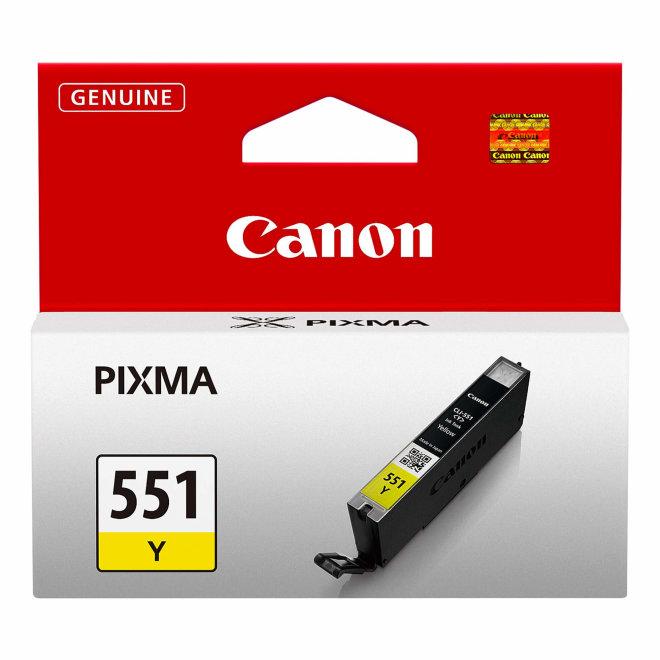 Canon CLI-551Y Yellow Ink Cartridge, tinta, cca 330 ispisa, Original [6511B001AA]