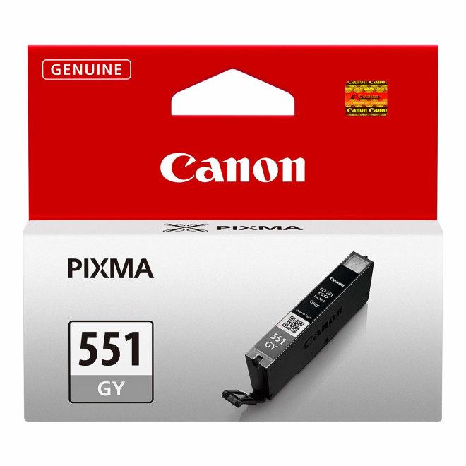 Canon CLI-551GY Grey Ink Cartridge, tinta, cca 125 fotografija, Original [6512B001AA]