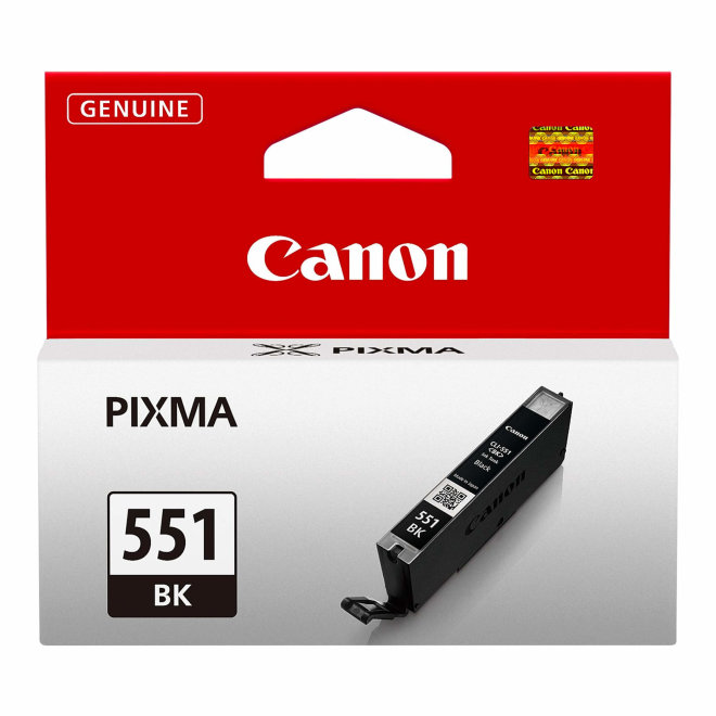Canon CLI-551BK Black Ink Cartridge, tinta, cca 495 fotografija, Original [6508B001AA]