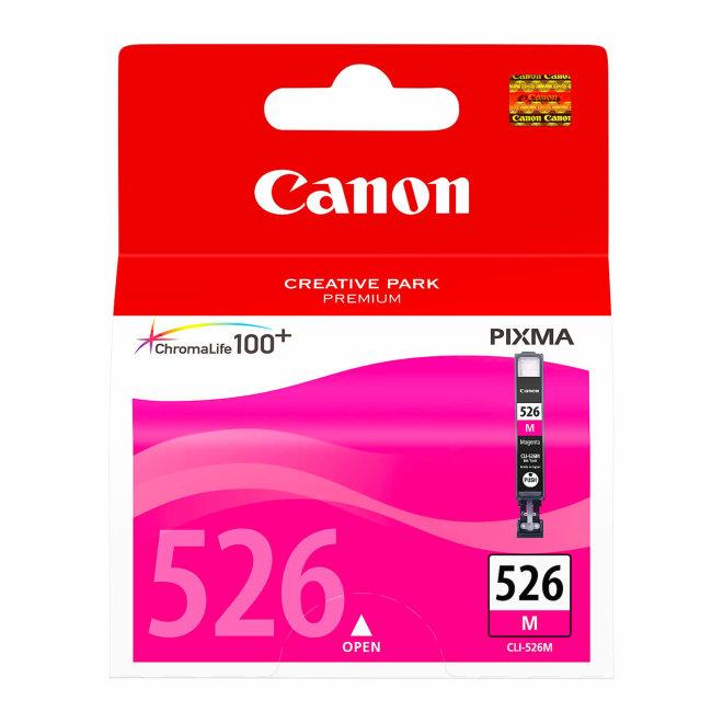 Canon CLI-526M Magenta Ink Cartridge, tinta, ChromaLife100+ system, cca 204 fotografije, Original [4542B001AA]